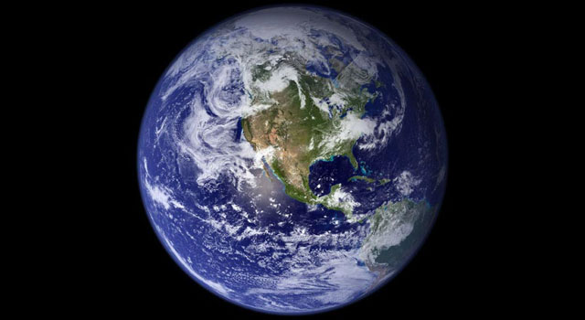 This view of Earth comes from NASA's Moderate Resolution Imaging Spectroradiometer aboard the Terra satellite. Click the photo for larger image.